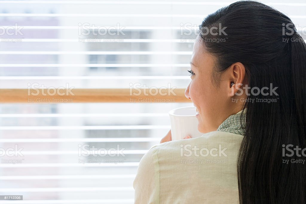 Young woman taking a break royalty-free stock photo