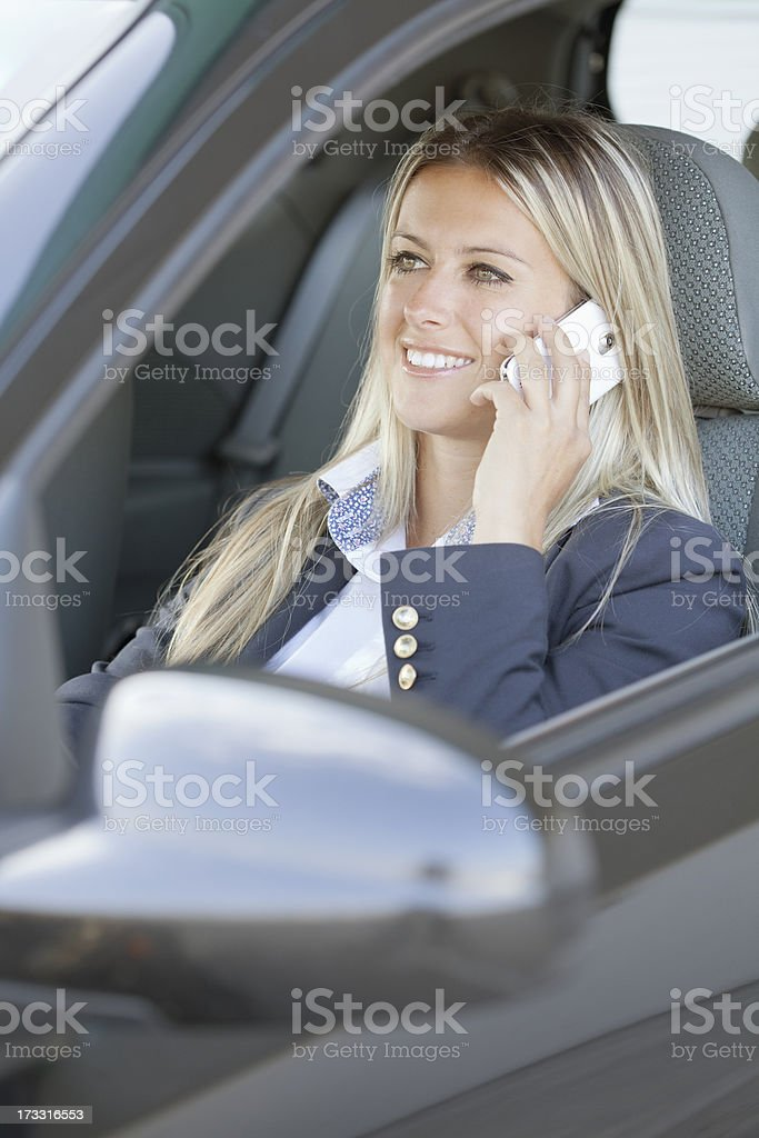 young woman talking on phone royalty-free stock photo