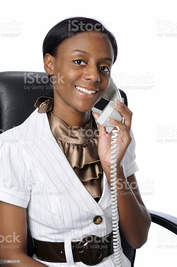 Young Woman Talking on the Phone royalty-free stock photo