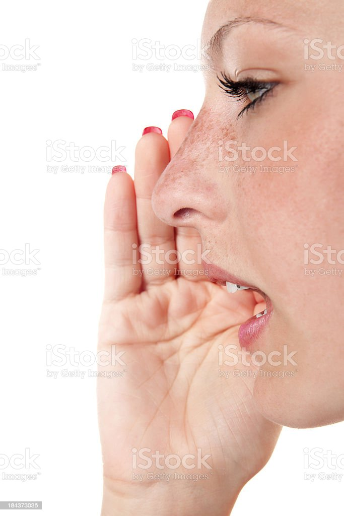 Young woman talking royalty-free stock photo