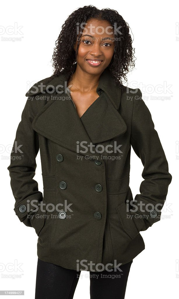 Young Woman Three Quarter Length Portrait royalty-free stock photo