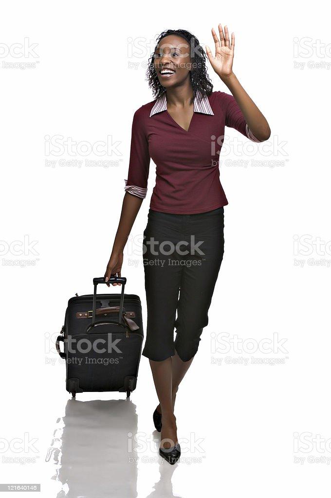 Young woman traveler stock photo