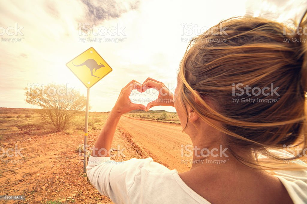 Young woman traveling loves Australia stock photo