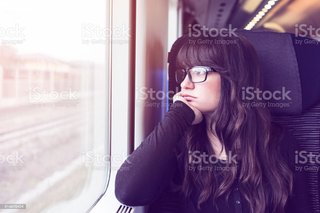 Young woman travelling stock photo