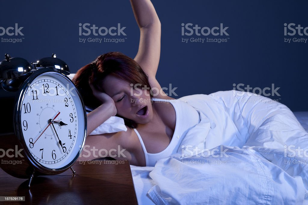 Young Woman Up All Night royalty-free stock photo