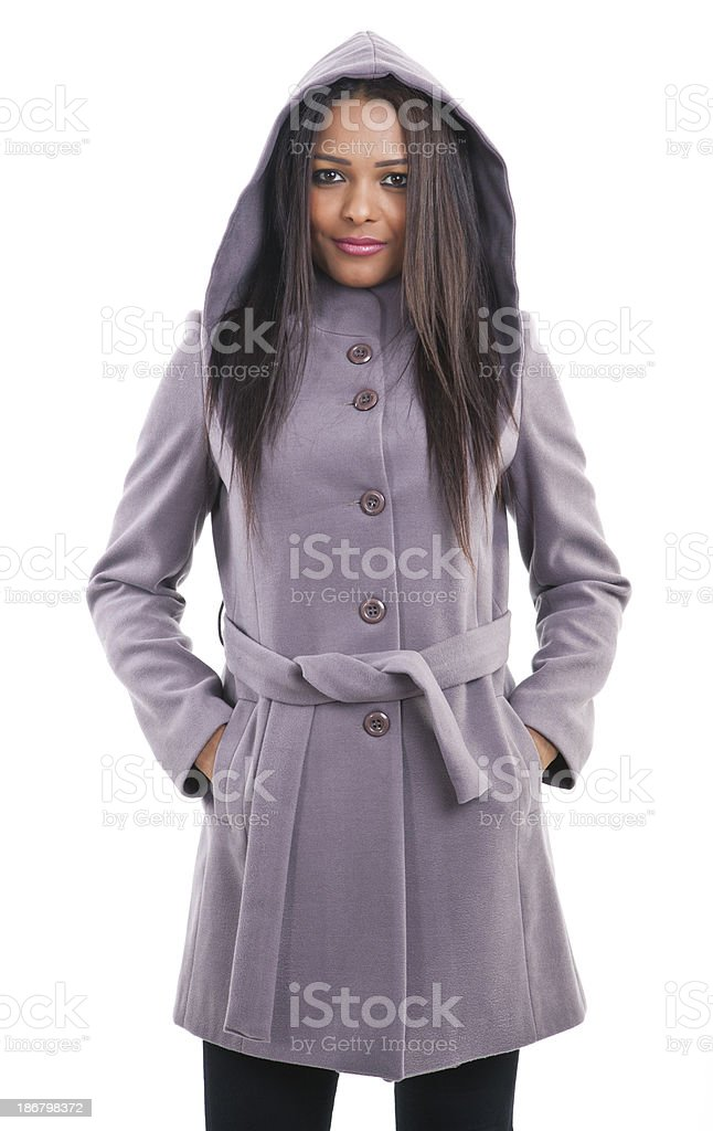 Young Woman Waist Up Portrait royalty-free stock photo