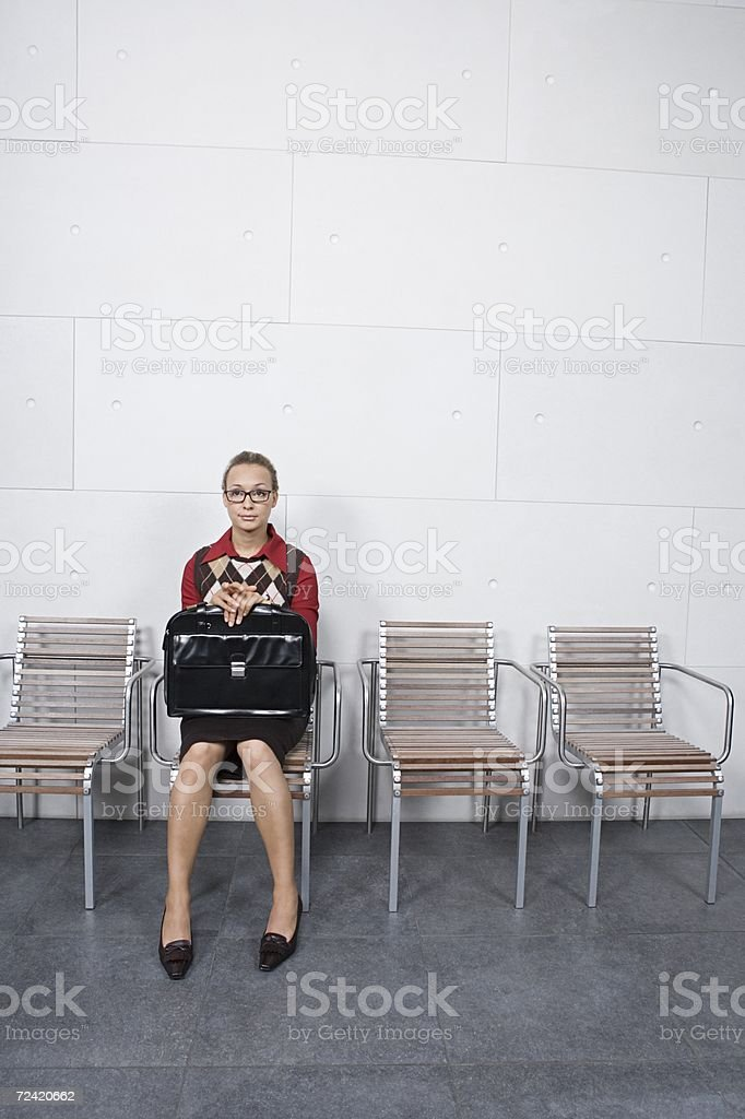 Young woman waiting royalty-free stock photo