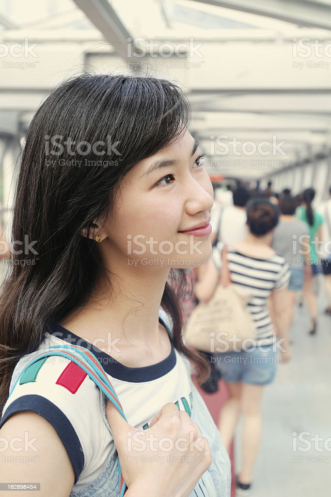 Young Woman Walking In The Shopping Center - XLarge royalty-free stock photo