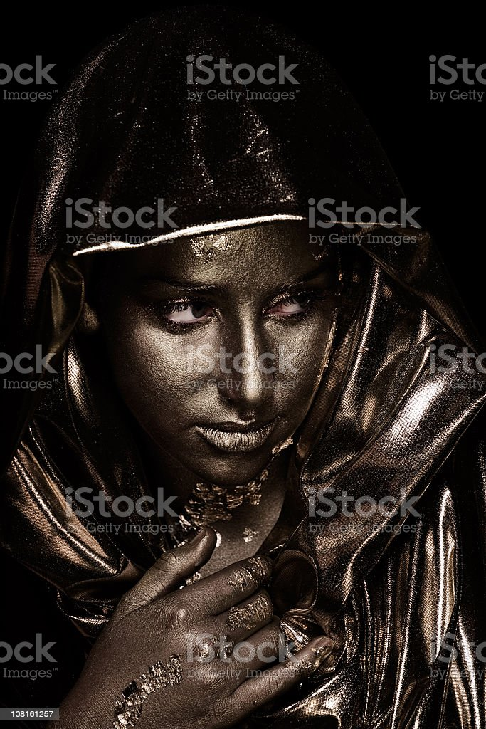 Young Woman Wearing Body Paint royalty-free stock photo