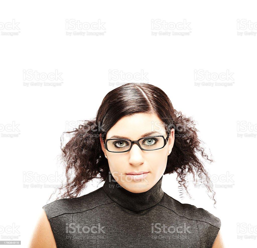 Young Woman Wearing Eyeglasses stock photo