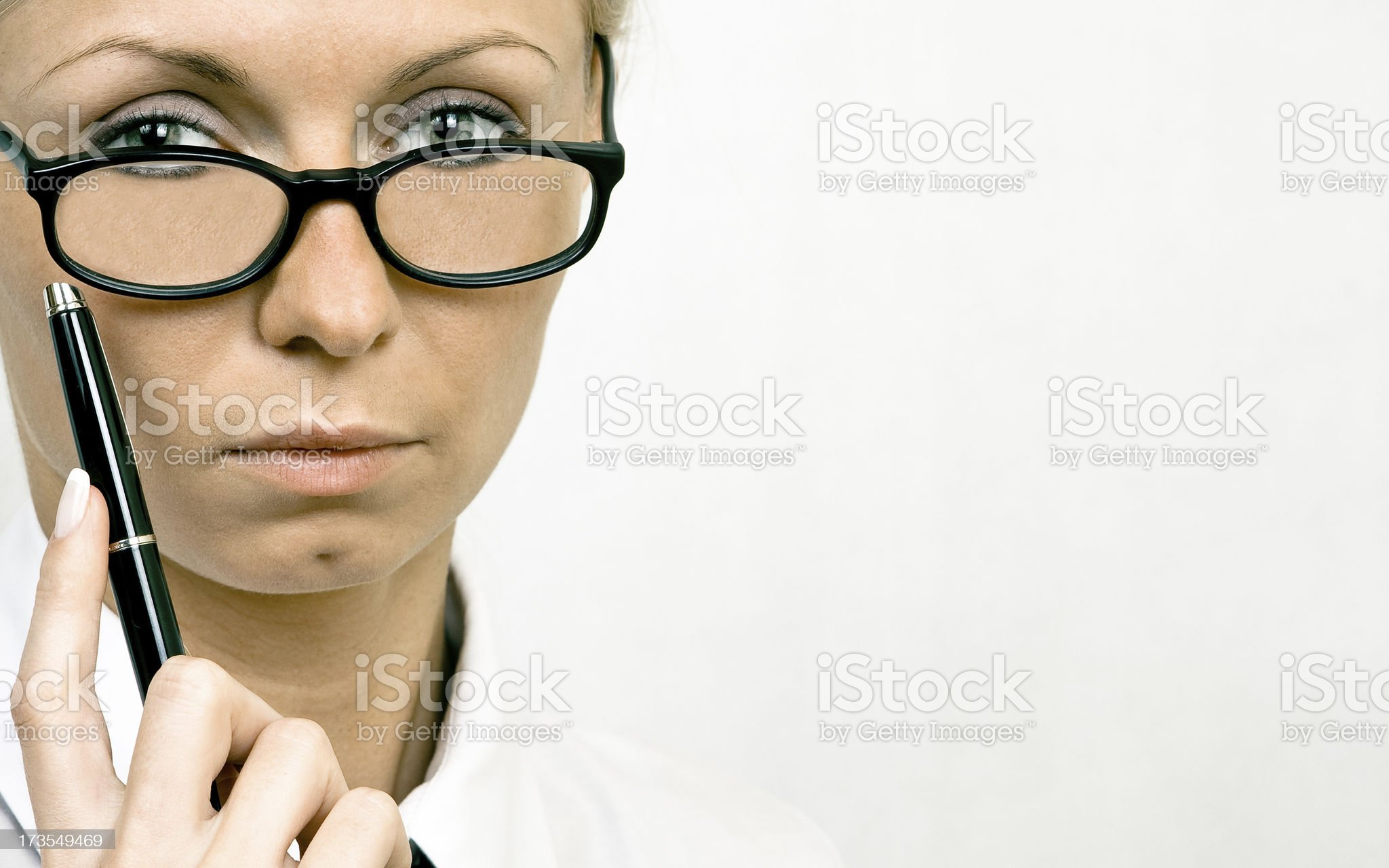 Young woman wearing glasses royalty-free stock photo