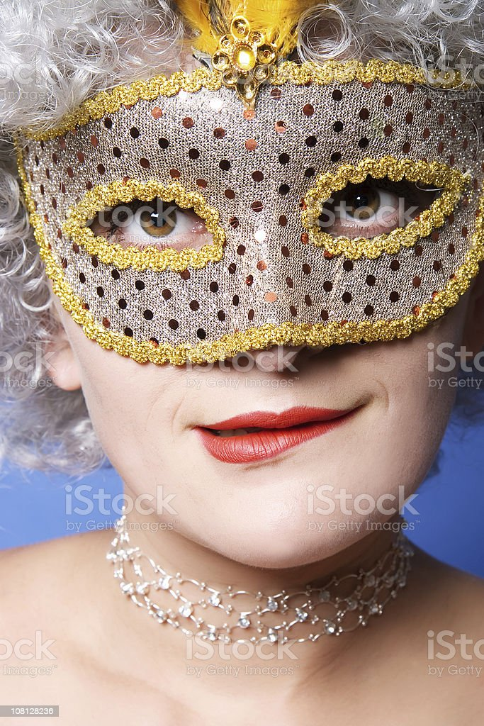 Young Woman Wearing Mask royalty-free stock photo
