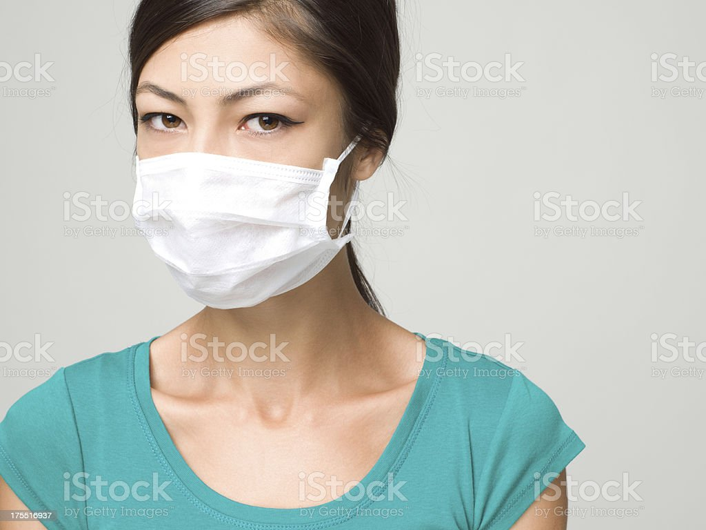 Young Woman Wearing Medical Face Mask stock photo