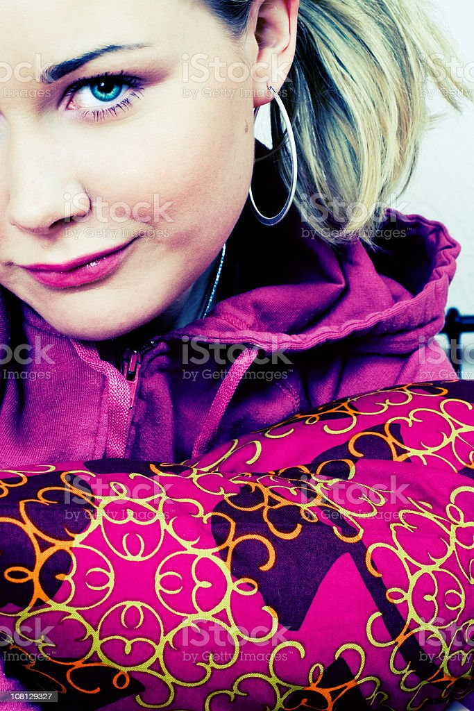 Young Woman Wearing Pink stock photo
