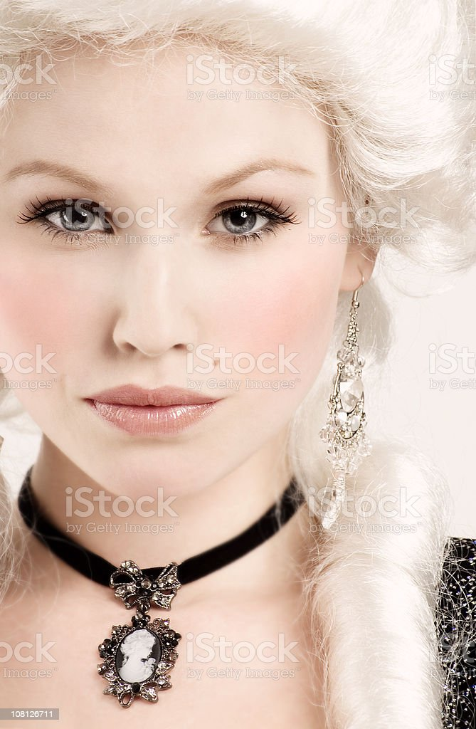 Young Woman Wearing Renaissance Style Clothing royalty-free stock photo