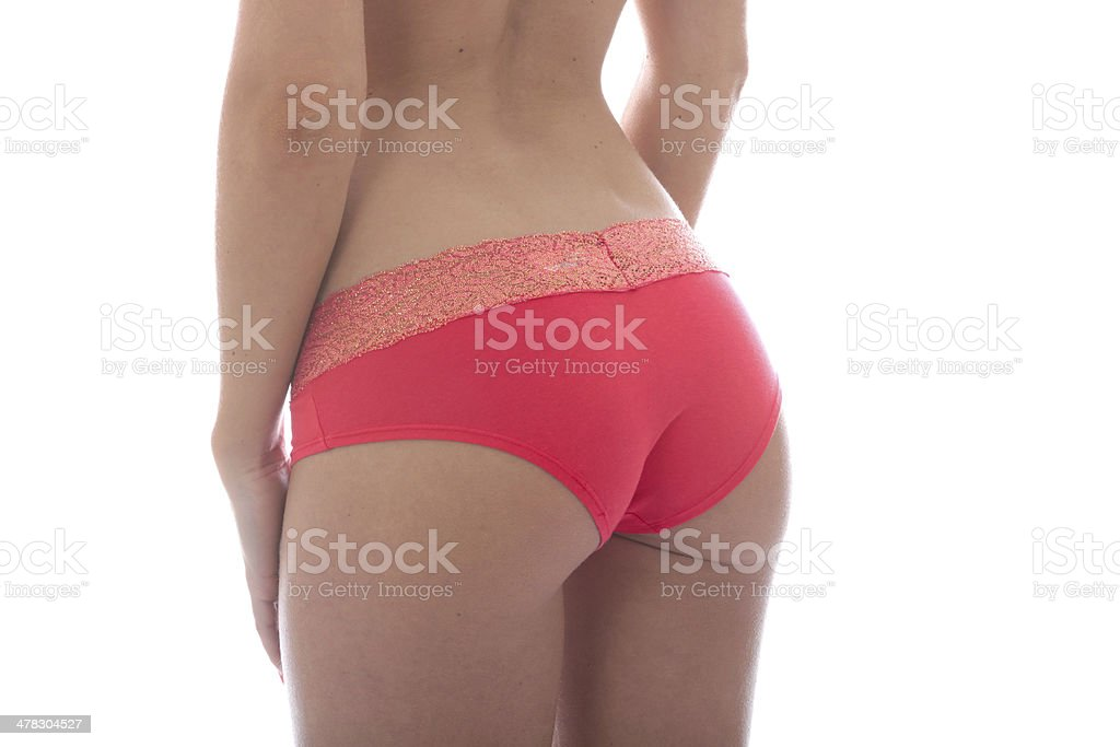 Young Woman Wearing Sexy Pink Panties royalty-free stock photo