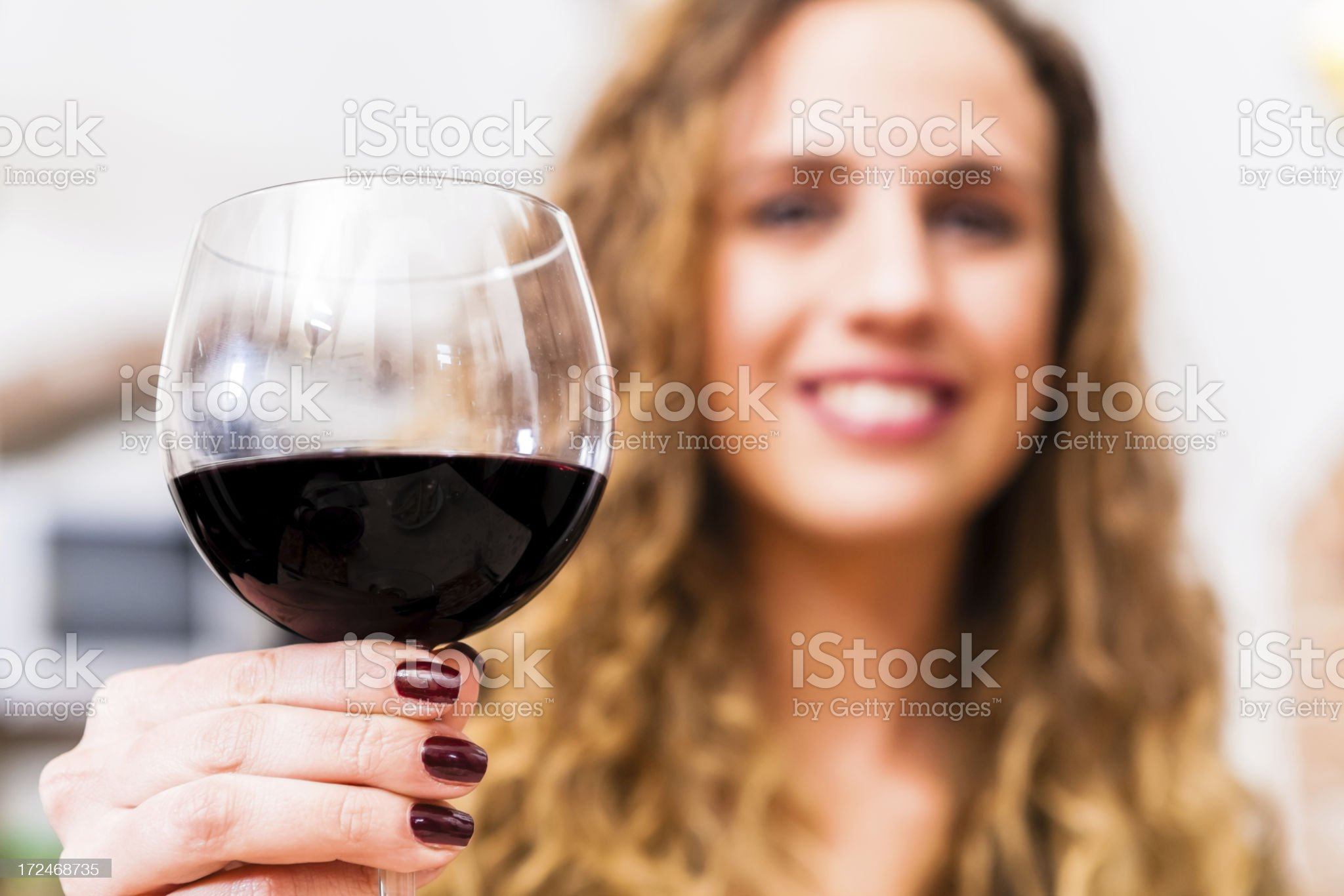 Young Woman Winetasting royalty-free stock photo