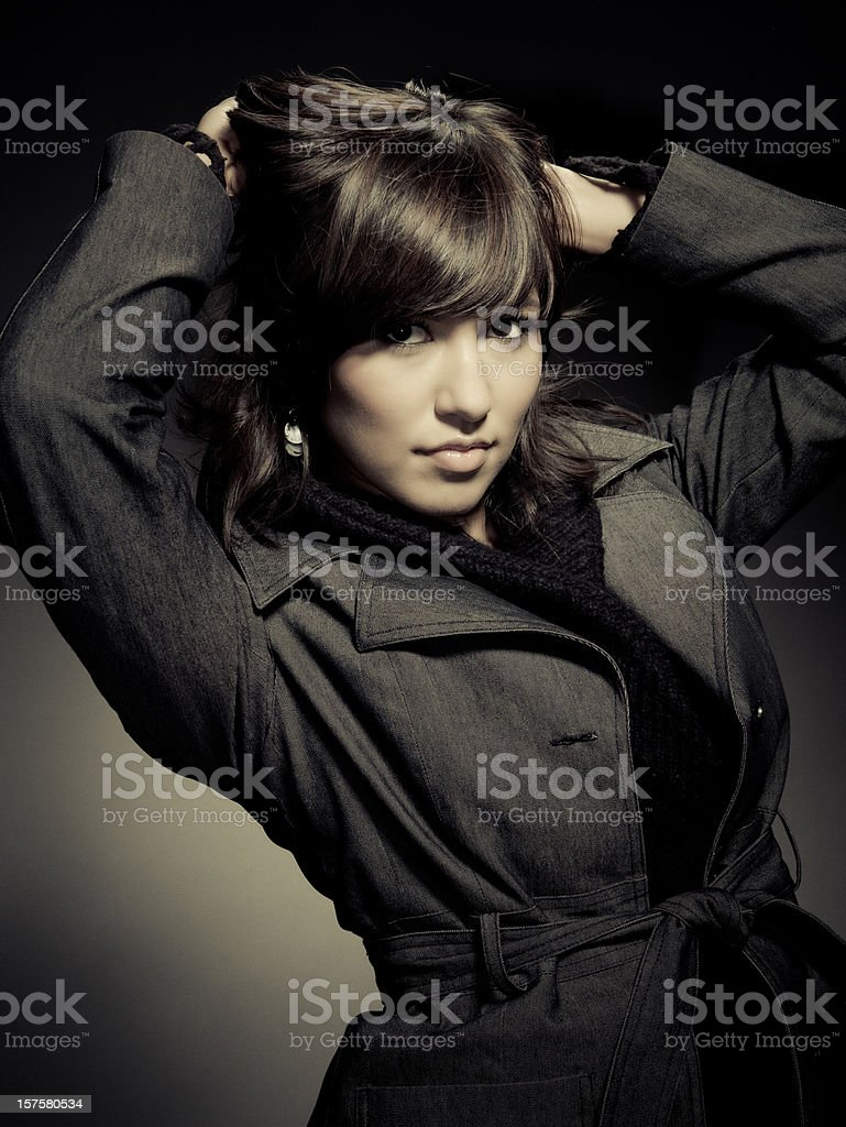 young woman with a retro outfit stock photo