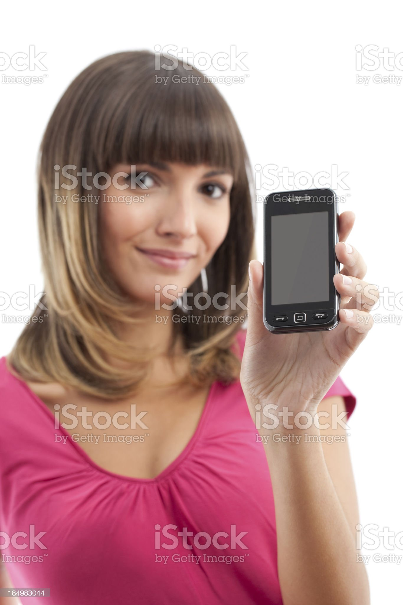 Young Woman with a Smart Phone royalty-free stock photo