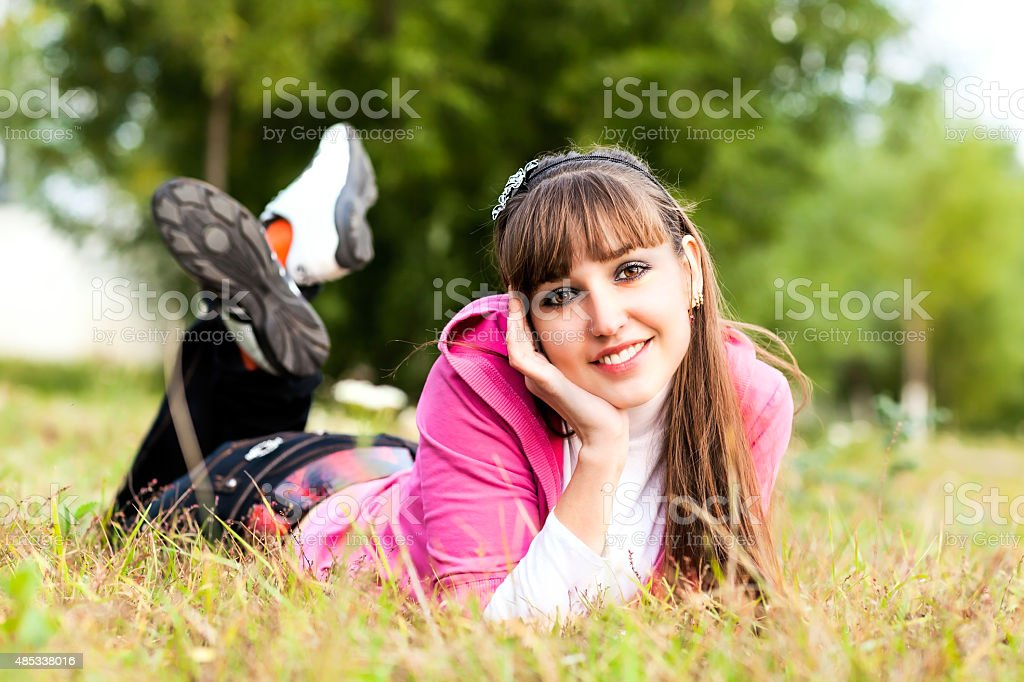 Young Woman with beautiful Autumn stock photo