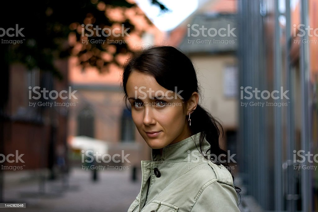 Young woman with beautiful eyes. royalty-free stock photo