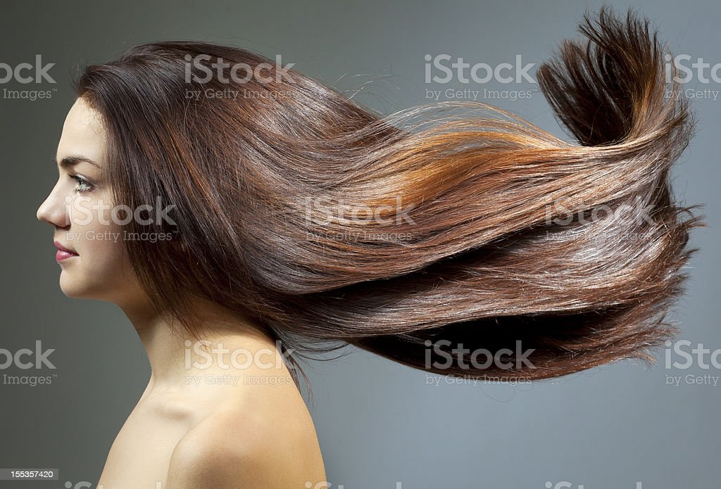 Young woman with beautiful hair stock photo