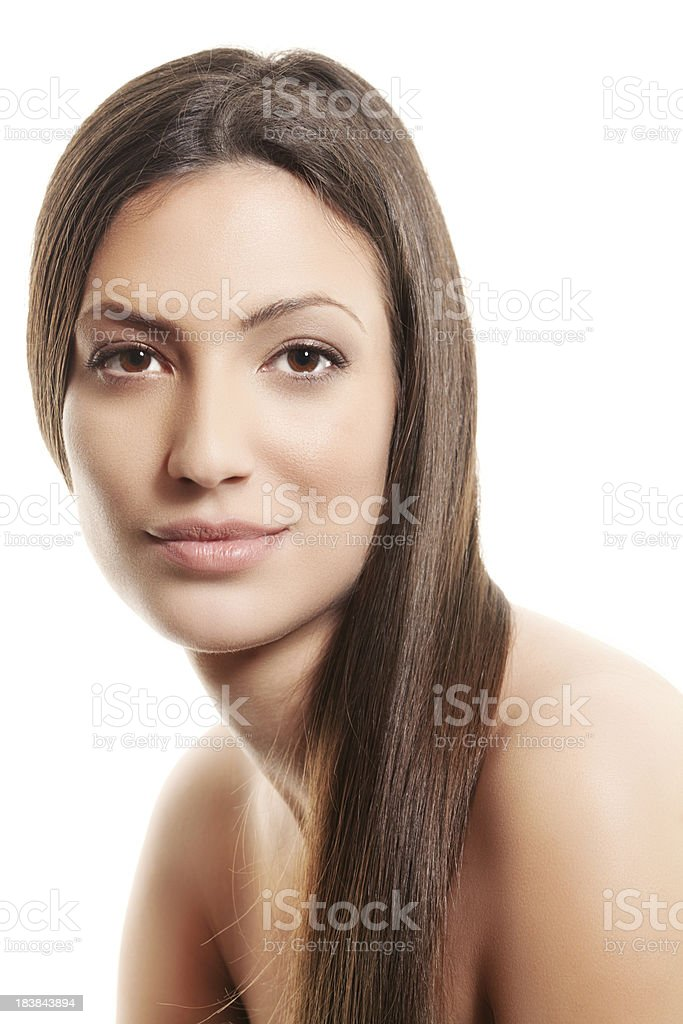 Young woman with beautiful hair royalty-free stock photo