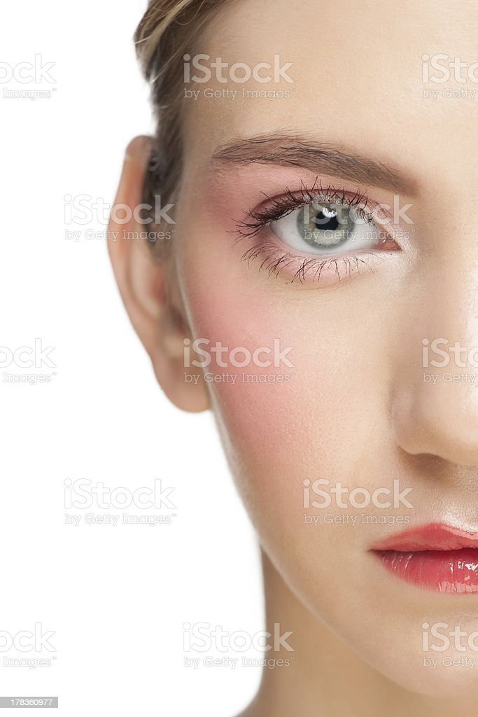 Young woman with beautiful make-up royalty-free stock photo