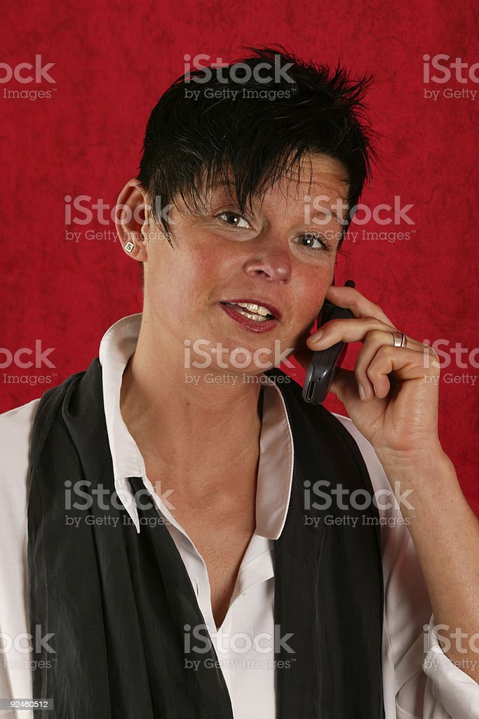young woman with cellphone royalty-free stock photo