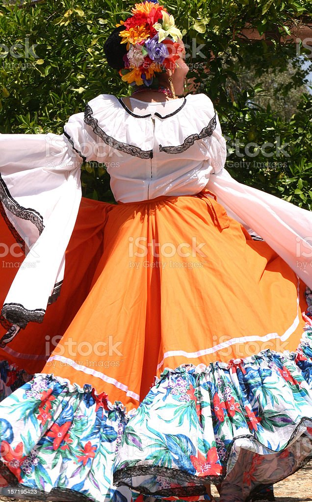 Young woman with cinco de mayo attire royalty-free stock photo