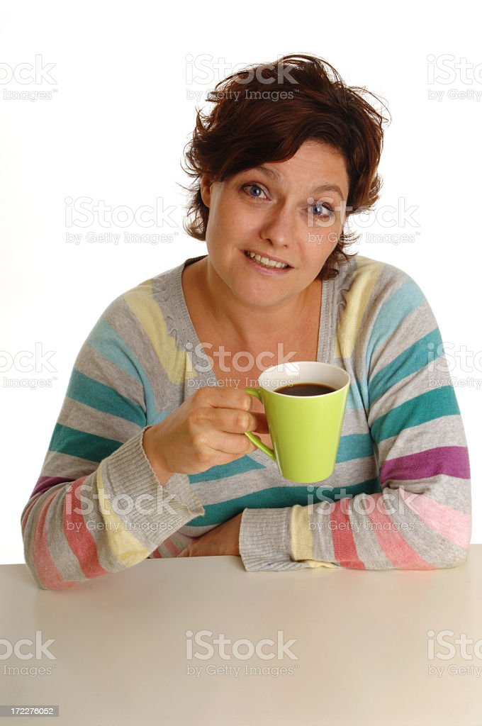 Young woman with coffee royalty-free stock photo