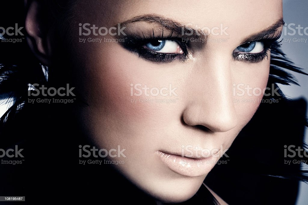 Young Woman with Dark Make-up royalty-free stock photo