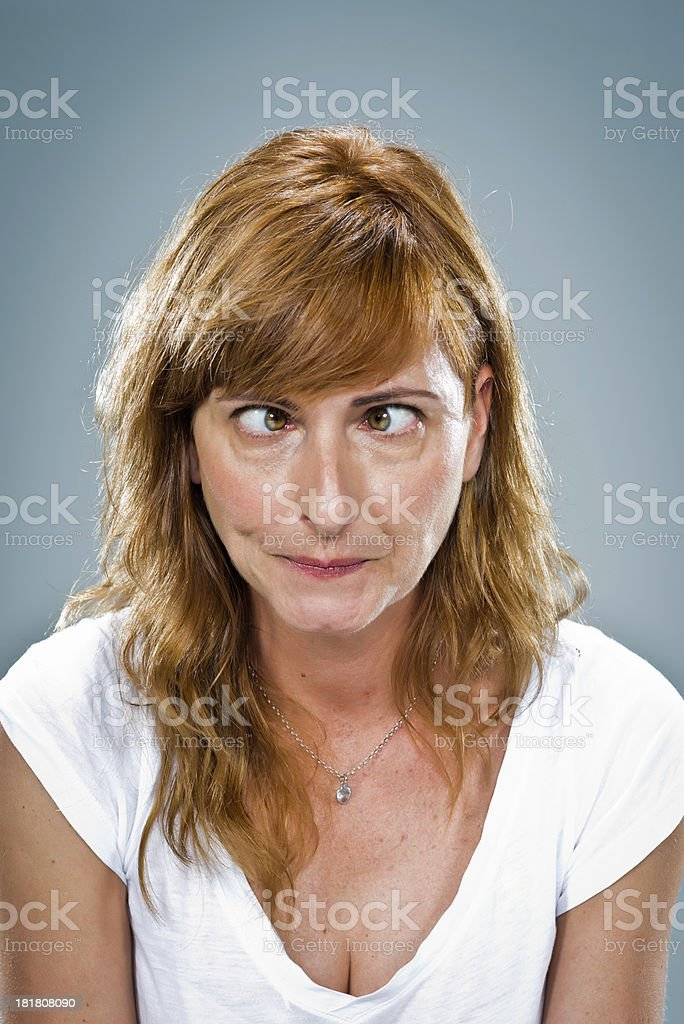 Young Woman with Funny Expression stock photo