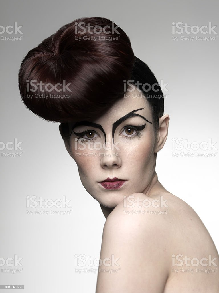 Young Woman with Hair Style royalty-free stock photo