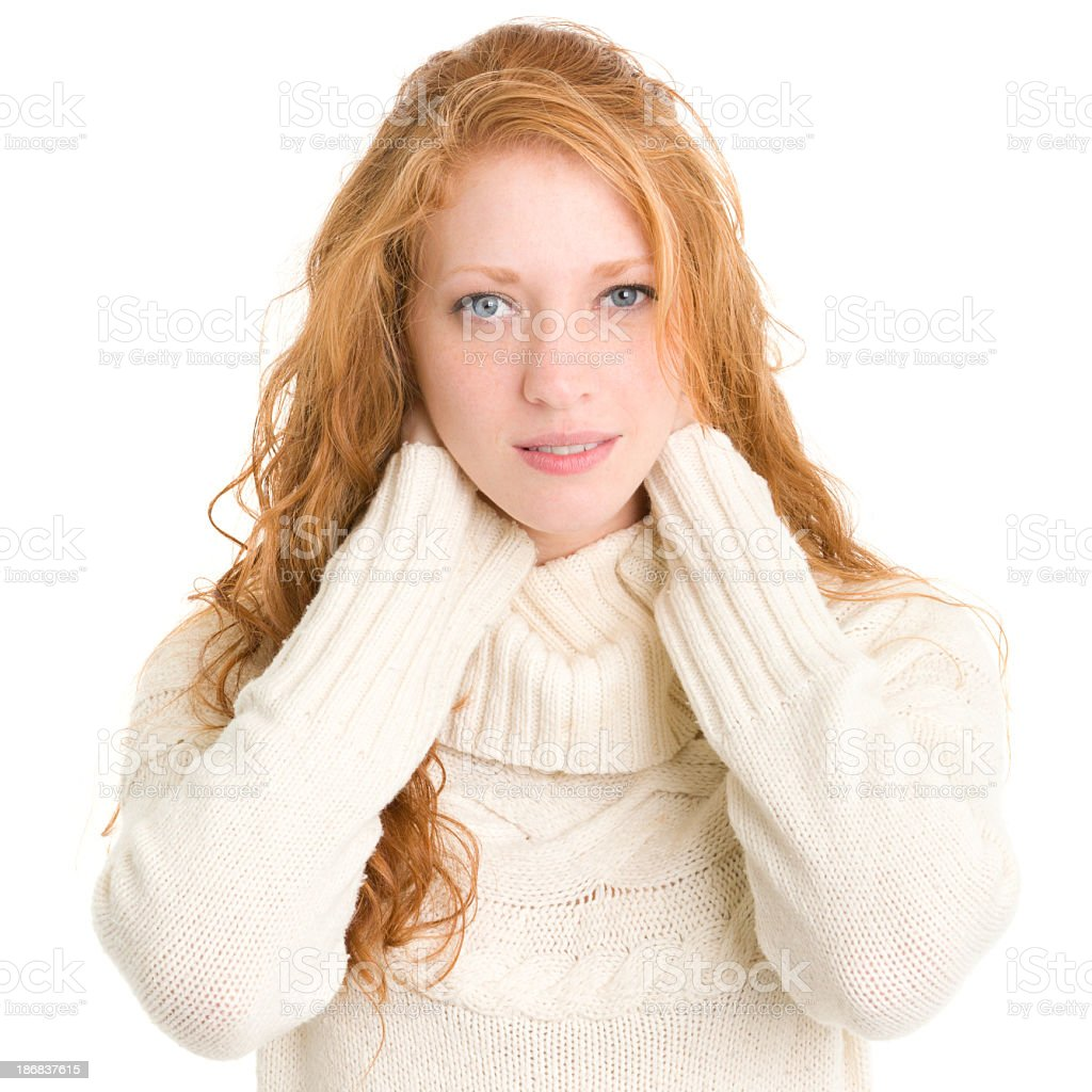 Young Woman With Hands Behind Neck stock photo