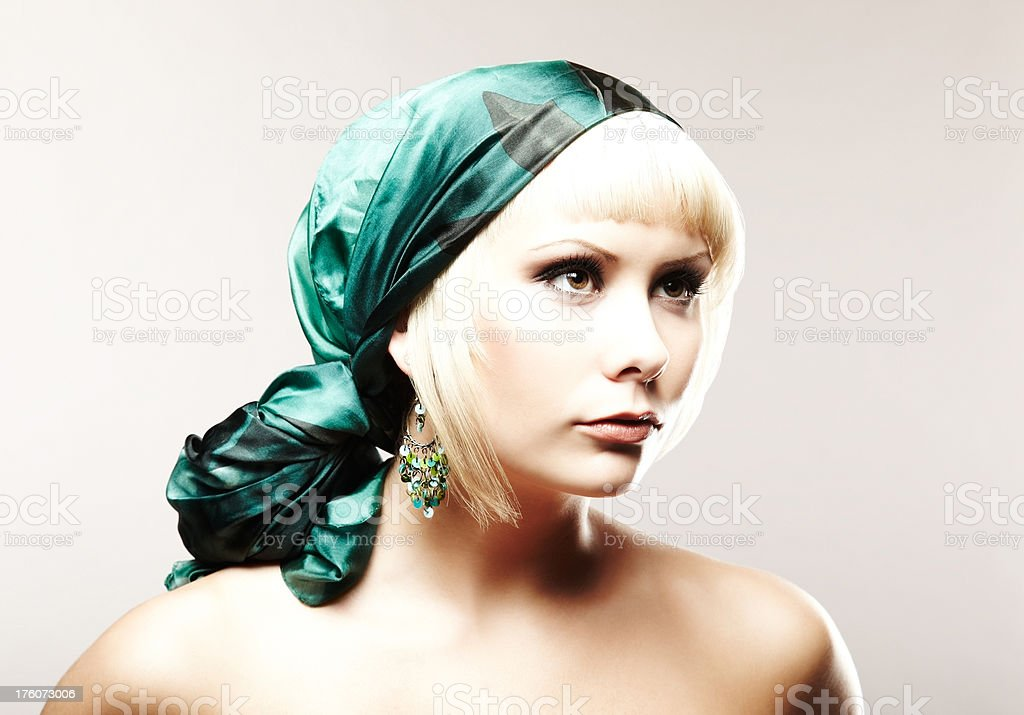 Young Woman With Headscarf royalty-free stock photo