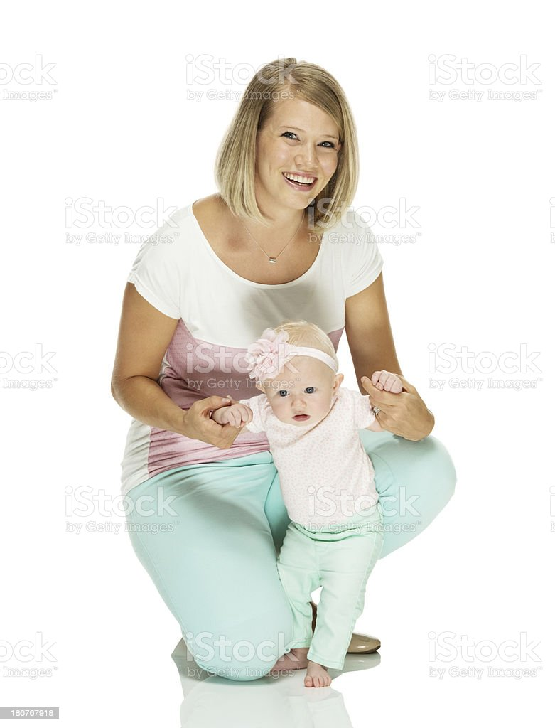 Young woman with her baby royalty-free stock photo