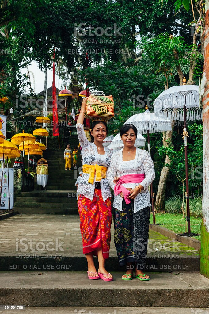 Young woman with her mother stock photo
