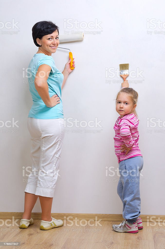 Young woman with little girl royalty-free stock photo