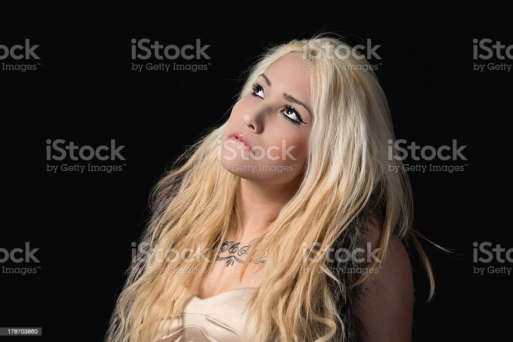 Young woman with long blond hair royalty-free stock photo