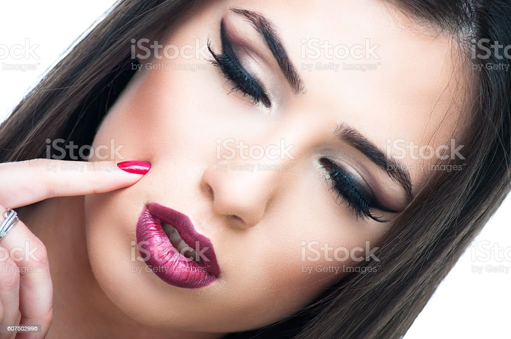 Young woman with make-up stock photo