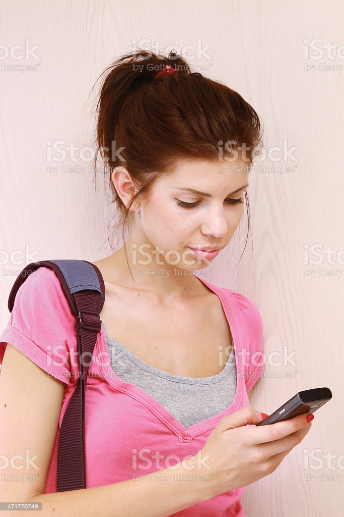 Young woman with mobile phone royalty-free stock photo