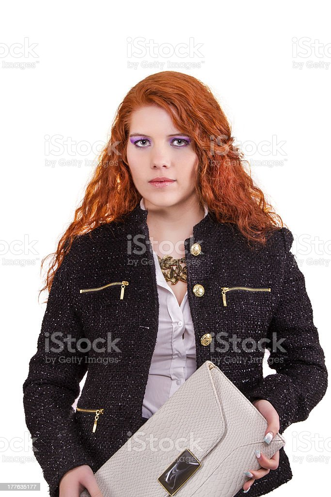 young woman with night fashion clothing royalty-free stock photo