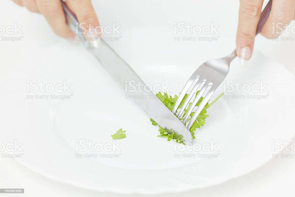 Young woman with parsley royalty-free stock photo