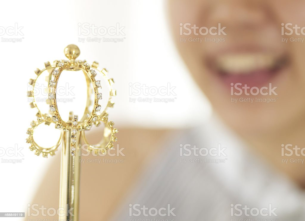 Young woman with Scepter stock photo