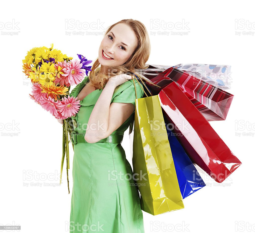 Young woman with shopping bag. royalty-free stock photo