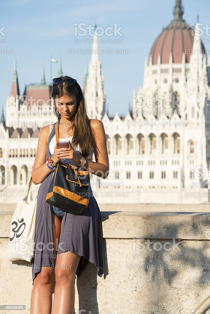 Young woman with smartphone royalty-free stock photo