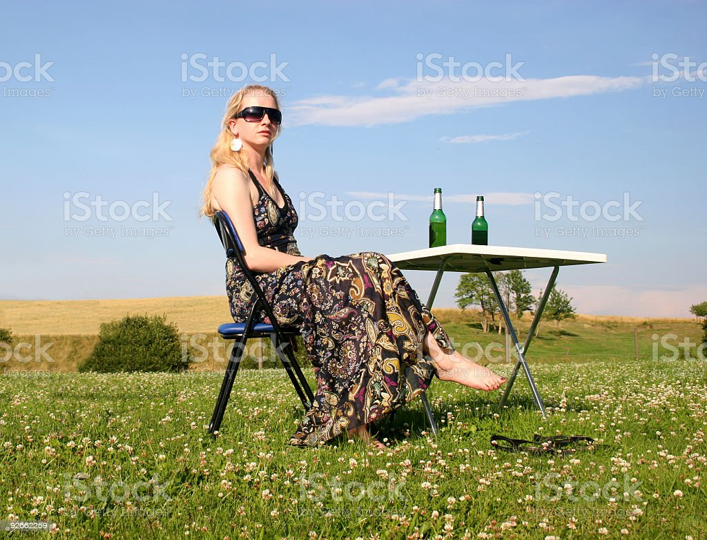 Young woman with sundress royalty-free stock photo