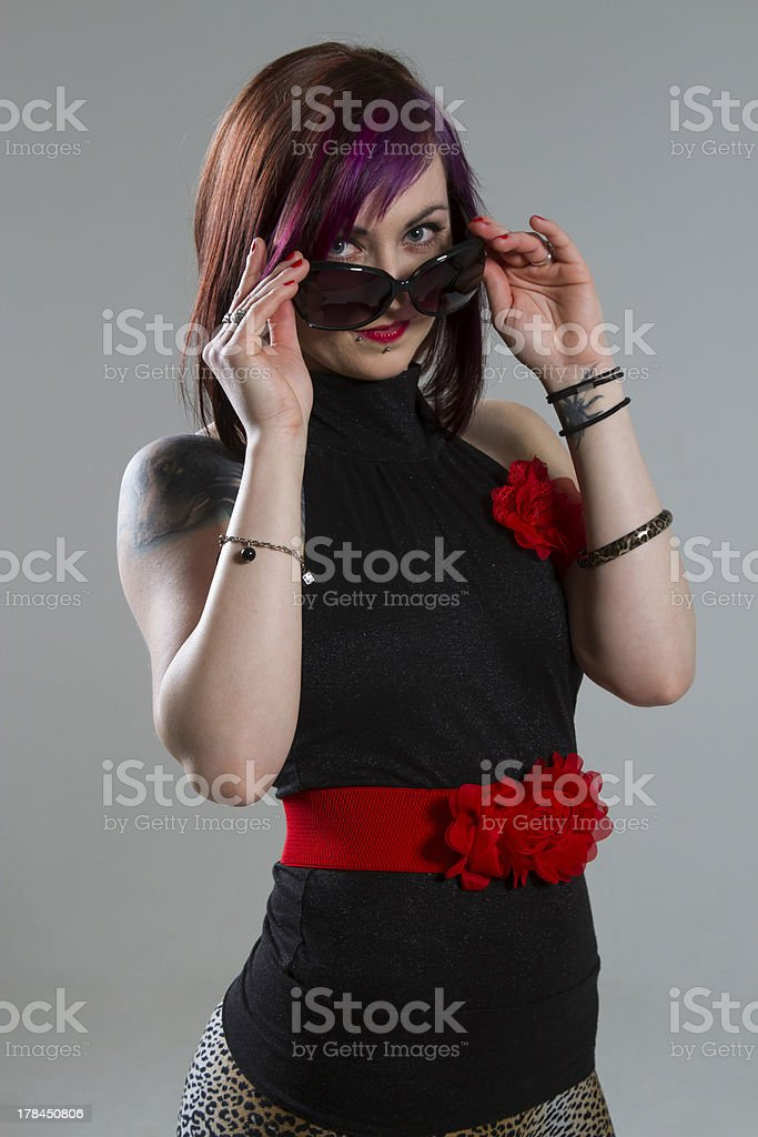 Young woman with sunglasses royalty-free stock photo
