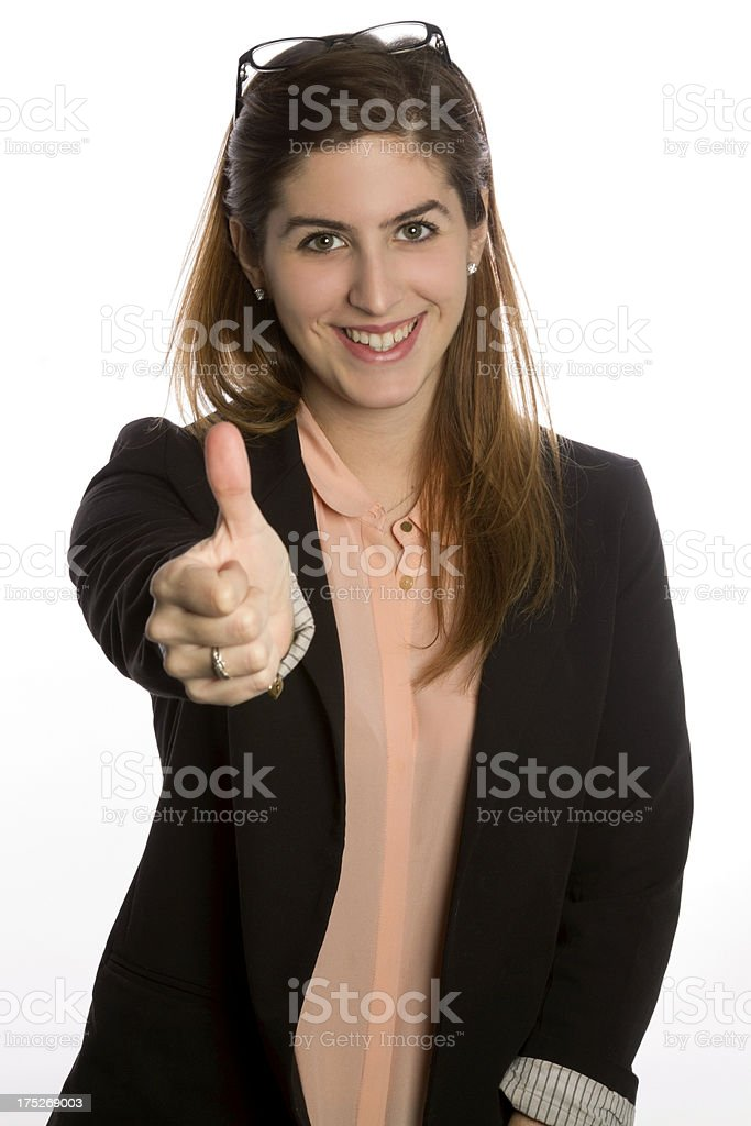 Young woman with thumbs up royalty-free stock photo